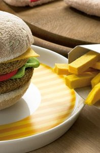 Haba 1475 - Biofino: Hamburger mit Pommes