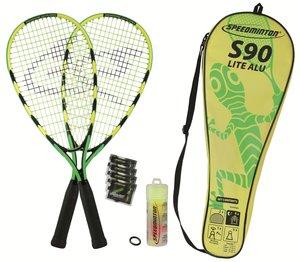 Speedminton® Set S90, grün-gelb