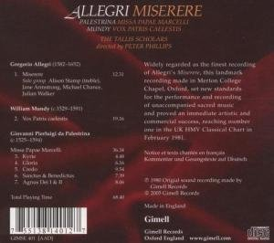 Miserere/Missa Papae Marcelli (Edition 25 Jahre)