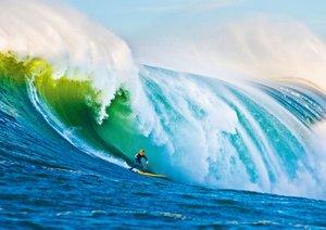 Surfen in der großen Welle (Posterbuch DIN A2 quer)