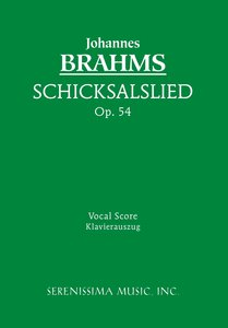 Schicksalslied, Op. 54 - Vocal Score