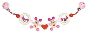 Goki 63460 - Kinderwagenkette Maus (rosa), Holz