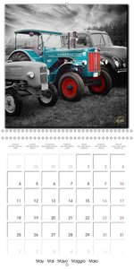 Oldtimers - tractors and trucks (Wall Calendar 2015 300 × 300 mm
