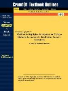 Outlines & Highlights for Algebra for College Students by Jerome