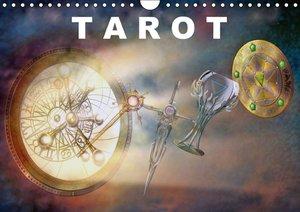 Tarot / Geburtstagskalender (Wandkalender immerwährend DIN A4 qu