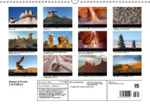 Stones & Rocks (UK-Edition) (Wall Calendar 2015 DIN A3 Landscape