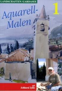 AQUARELL-MALEN-Landschaften Gardasee 1