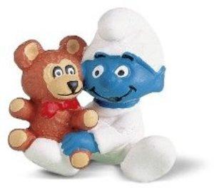 Schleich 20205 - Schlümpfe: Baby mit Teddy