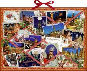 Nostalgische Weihnachtsgrüße - Memoboard. Wand-Adventskalender -