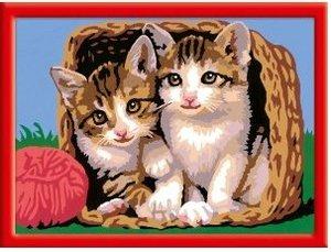 Ravensburger 28178 - Katze im Körbchen, MNZ, Malen nach Zahlen