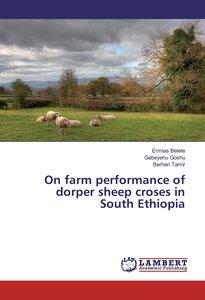 On farm performance of dorper sheep croses in South Ethiopia