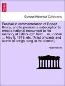 Festival in commemoration of Robert Burns, and to promote a subs
