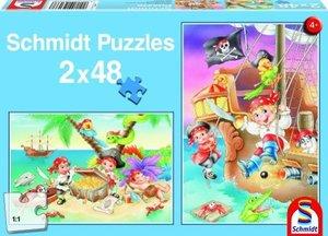 Piratenbande. Puzzle 2 x 48 Teile