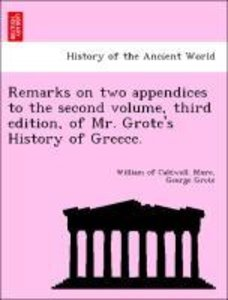 Remarks on two appendices to the second volume, third edition, o