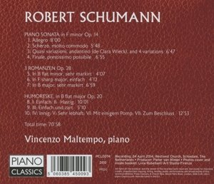 Piano Sonata op.14/Romanzen op.28/Humoreske op.20