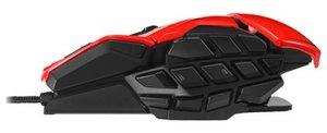 M.M.O. TEÖ Gaming-Maus für PC und Mac, rot
