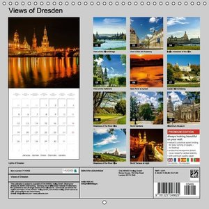 Views of Dresden (Wall Calendar 2015 300 × 300 mm Square)