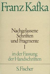 Nachgelassene Schriften und Fragmente I