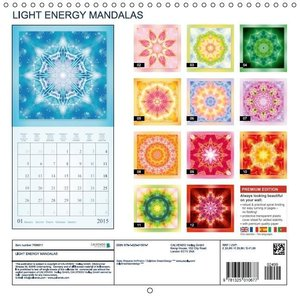 LIGHT ENERGY MANDALAS (Wall Calendar 2015 300 × 300 mm Square)