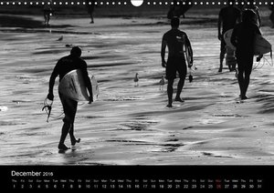 Surf in B&W (Wall Calendar 2016 DIN A3 Landscape)