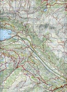 KuF Schweiz Wanderkarte 33 Heidiland Wanderkarte 1 : 50 000