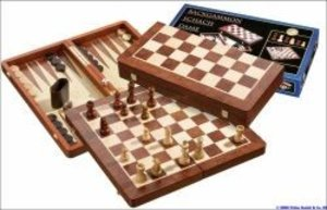 Philos 2520 - Schach-Backgammon-Dame-Set