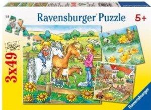 Ravensburger 09293 - Kleine Tiere 3 x 49 Teile Puzzle