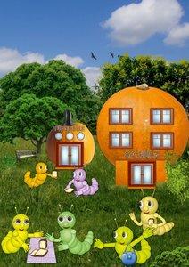 Die kleinen Raupen und ihre Erlebnisse (Posterbuch DIN A4 hoch)