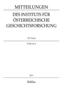 Mitteilingen des Instituts für Österreichische Geschichtsforschu