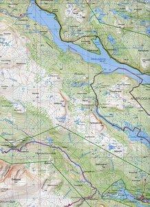 Fjällkartan 1 : 100 000 BD16 Vuoggatjåme - Ammarnäs Bergwanderka