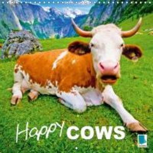 Happy cows (Wall Calendar 2015 300 × 300 mm Square)