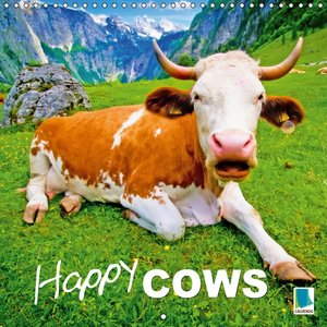 Happy cows (Wall Calendar 2015 300 × 300 mm Square)
