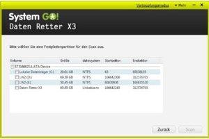 System GO! - Daten Retter X3 (Lizenz für 3 PCs)