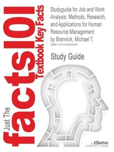 Studyguide for Job and Work Analysis