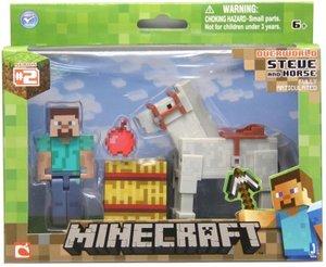 Minecraft - STEVE AND HORSE, bewegliche Sammelfigur mit Zubehör