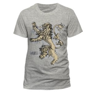 Lannister Lion (T-Shirt,Grau.Größe M)
