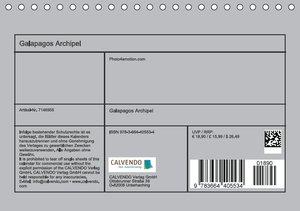 Galapagos Archipel (Tischkalender 2016 DIN A5 quer)