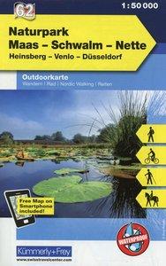 KuF Deutschland Outdoorkarte 62 Maas-Schwalm-Nette 1 : 50 000