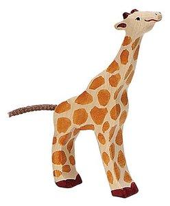 Goki 80157 - Giraffe, klein, fressend, Holz