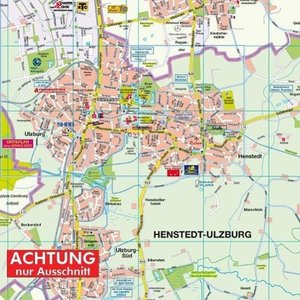 Henstedt-Ulzburg mit Kisdorf 1 : 20.000 Posterplan