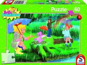 Schmidt Spiele 56046 - Bibi Blocksberg Kinderpuzzle, Unterm Rege