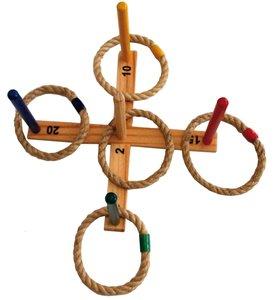 MTS Ringwurfspiel, Holz mit 5 Seil-Wurfringen