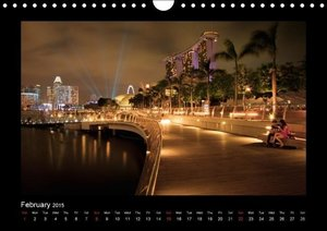 Singapore by Night 2015 - UK Version (Wall Calendar 2015 DIN A4