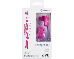 JVC HA-F250BT-P-E - Bluetooth-Sportkopfhörer In-Ear - Pink
