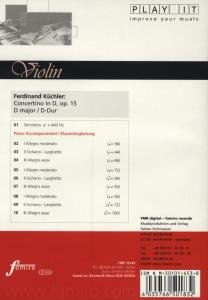 Study-CD for Violin - Concertino in G
