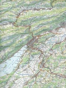 Swisstopo 1 : 100 000 Biel / Bienne