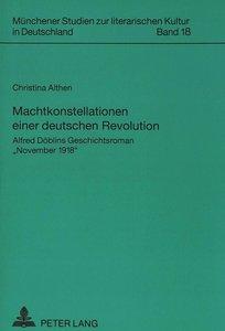 Machtkonstellationen einer deutschen Revolution