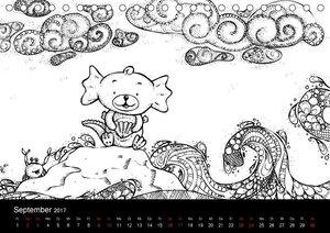 Bezaubernde Mini-Monster - Ein Ausmal-Kalender (Tischkalender 20