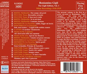 Milan Recordings 1918-19
