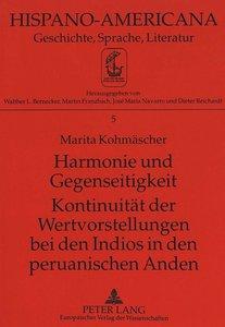 Harmonie und Gegenseitigkeit- Kontinuität der Wertvorstellungen